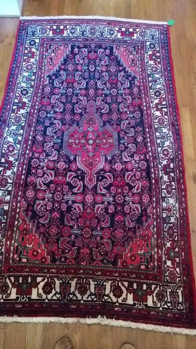 """Very nice rugs in this house. This one is a hand-knotted wool Persian rug, 3' 6"""" x 5' 7""""."""
