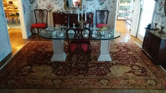 OK, this really IS a gorgeous Persian rug. It's an antique Mahal and in pristine condition. It's not cheap, so bottom feeder rug dealers, I won't give it away...   ;-)