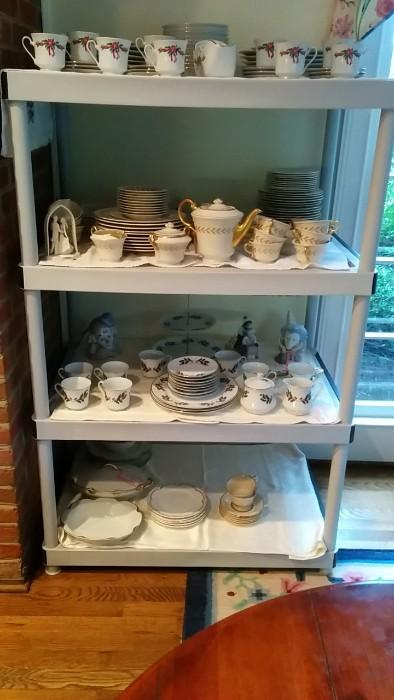 Ok, please buy this Christmas china, so I don't have to pack it up. There's actually a very nice 80-piece set of Old Ivory china, by Syracuse China Co.,  that was rarely, if ever, used. It looks vaguely like Lenox, but at a fraction of the price.