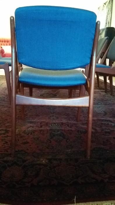 "Back view of Arne Vodder ""Tilt-Back"" dining chair"