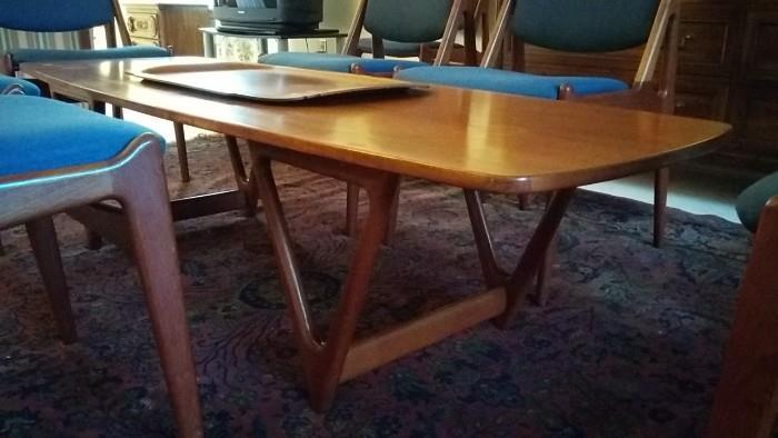 Those legs! Mid-Century Teak Danish Coffee Table, by Arne Vodder