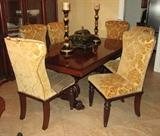 RALPH LAUREN TABLE, LEAF & 6 CHAIRS - ORIGINAL: $18,000 -- ASKING: $ 8,500