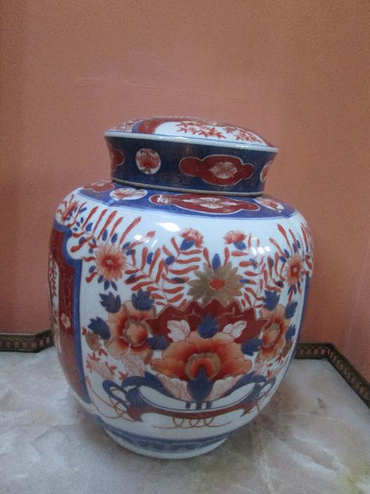 ORIENTAL LARGE COVER JAR