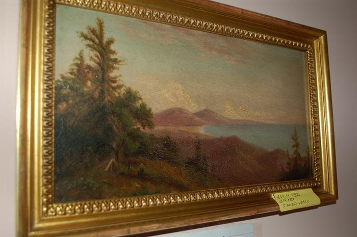 Oil by J.R. Key // Grandson of Francis Scott Key // Signed Verso