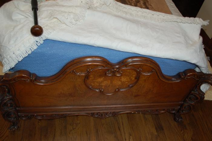 A pair of ornately carved twin beds (prettiest beds I have seen in my 33 years of doing sales)