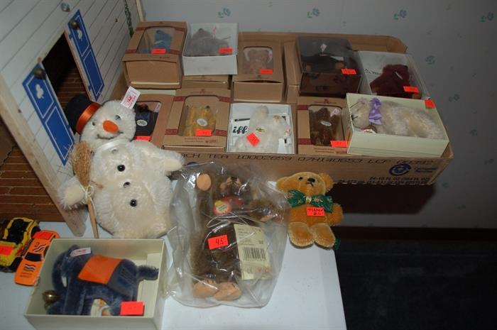 Several small Steiff Teddy Bears,