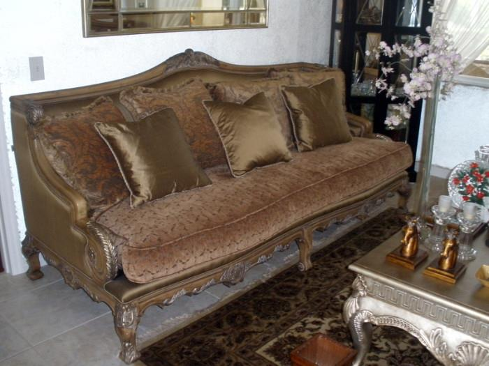 Macedonian style living room sofa, down filled - 96x44x45h