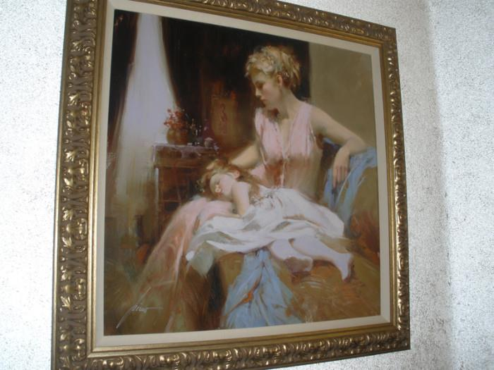 "signed numbered print by artist Pino Daeni - ""Long Day"""