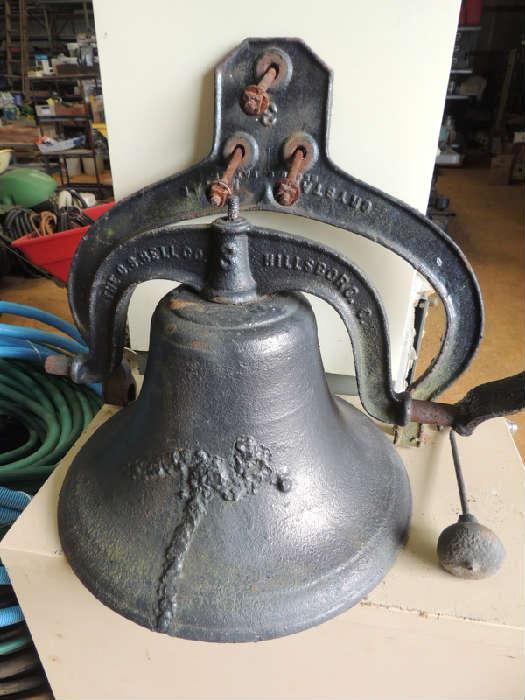 The C.S. Bell Company, Hillsborough, Ohio. antique cast iron school bell dated 1886!