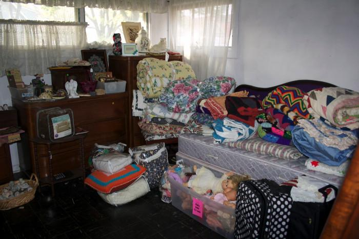 Dressers, quilts, daybed, afghans, luggage & more!