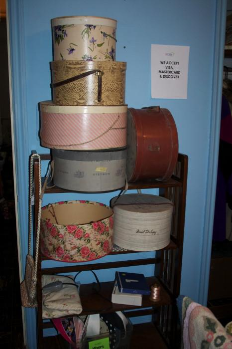 Hat boxes - more in the garage...