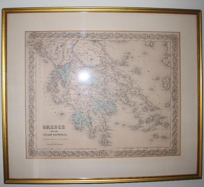 Hand colored maps