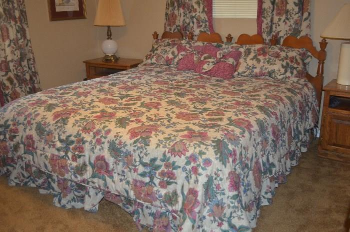 King size electric bed with headboard