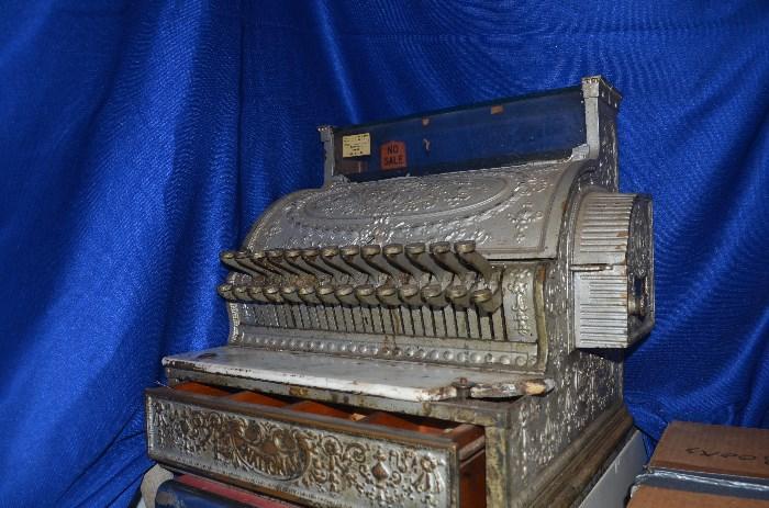 Antique National Brass Cash Register