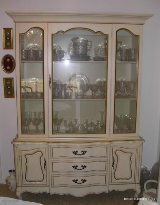 French Provincial 1970's China Hutch