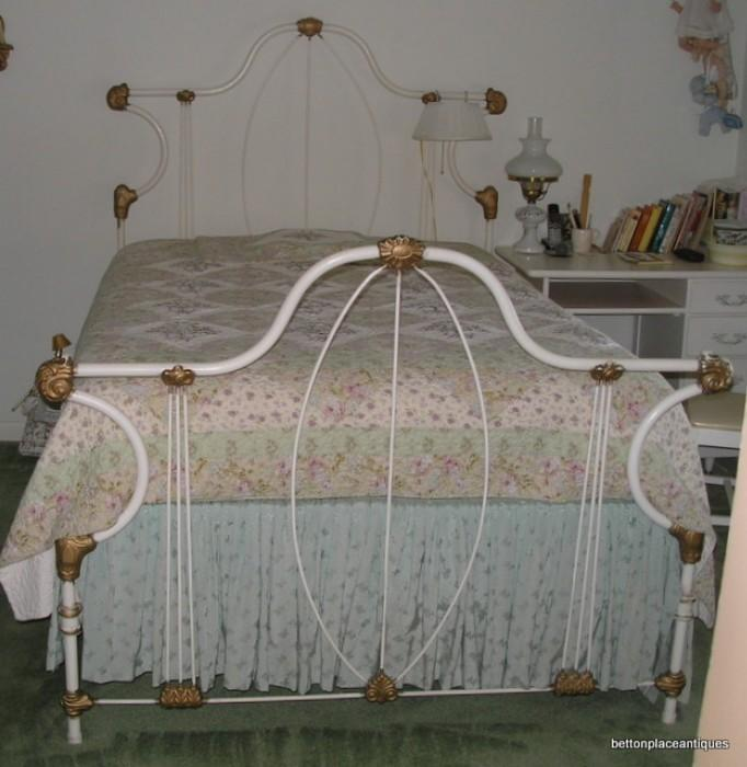Antique Full Size Metal Bed again Mattress and base immaculate