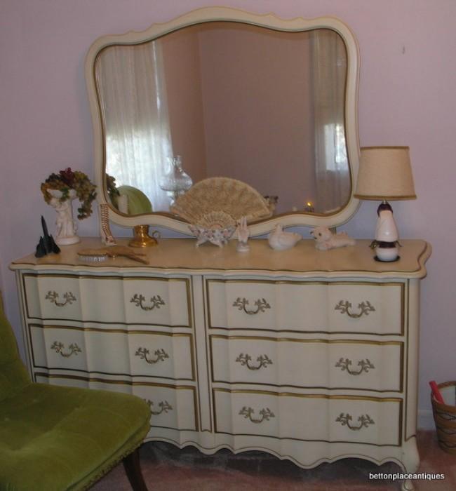 French provincial Dresser/Mirror