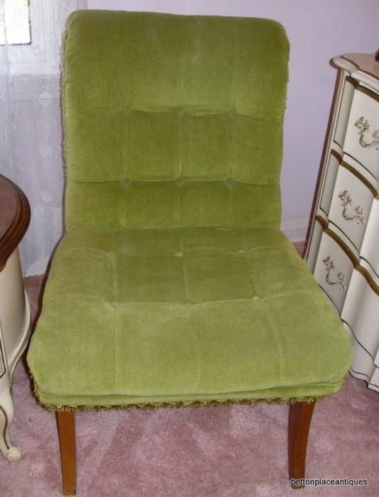 Green Velvet Bedroom Chair