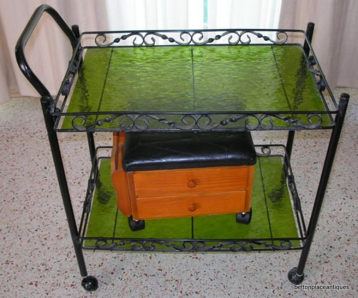 Metal and Glass Cart 1970's