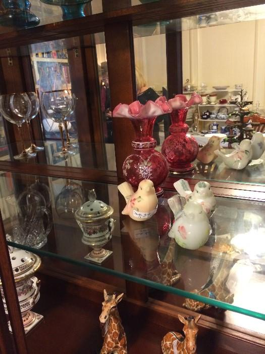 Fenton and other beautiful glassware