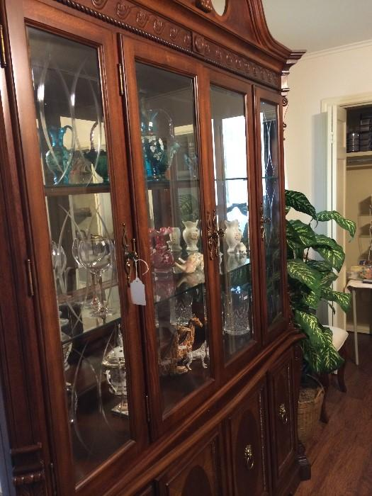 Beautiful china cabinet with lots of storage & display