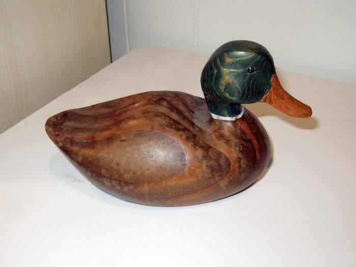 hand carved decoy duck