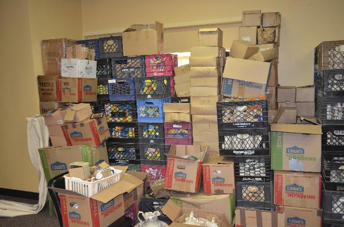 Yes, even more stacks of crates and boxes which we will have spread out across our showroom for you to look through.