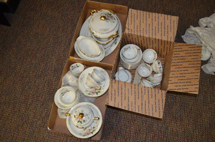 Grace China Co. service for 12 with hard to find serving dishes (only partial set shown), conservatively valued at $400 but will accept any reasonable offer.