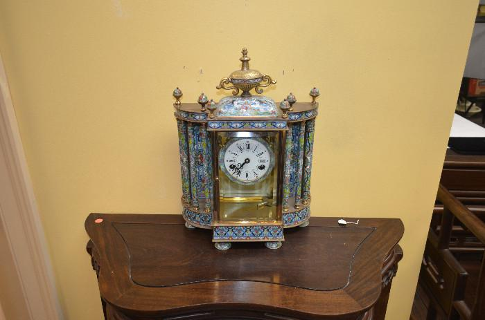Cloisonne clock, offered at a fraction of its value.