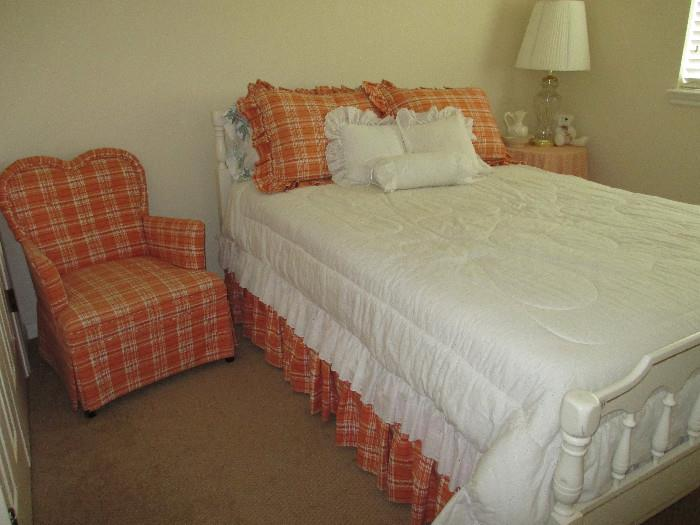 Full Size Mattresses, Headboard, Footboard, and Sweet Bedroom Chair