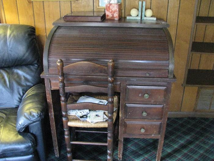 Antique roll up desk.  They don't make desks like this any more.