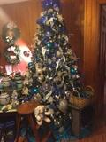 Tree with decorations... Have two additional decorated trees.