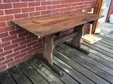 Pine outdoor potting table