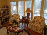 Floral swivel/rocking chairs