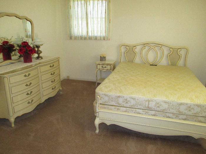 Queen Size Mattress and Box Springs Sold Separately from Headboard, Footboard and Frame