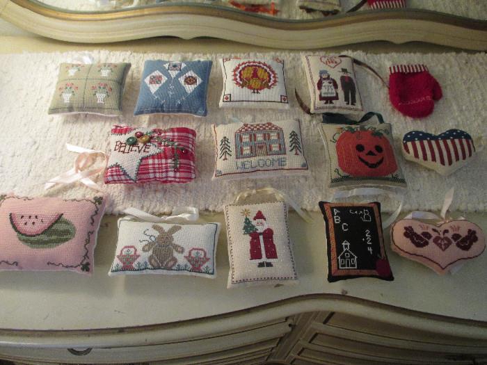 Cute Cross Stitch Mini Pillows