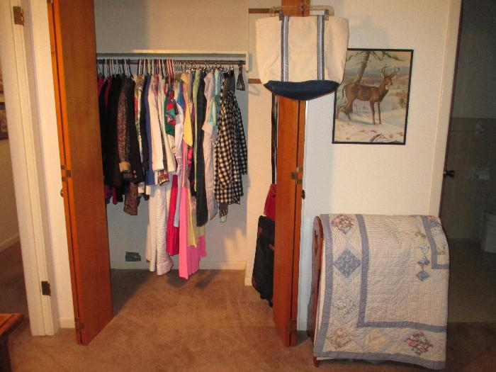 More Clothing and Nice Lingerie.  There's A Medium Suitcase In The Closet
