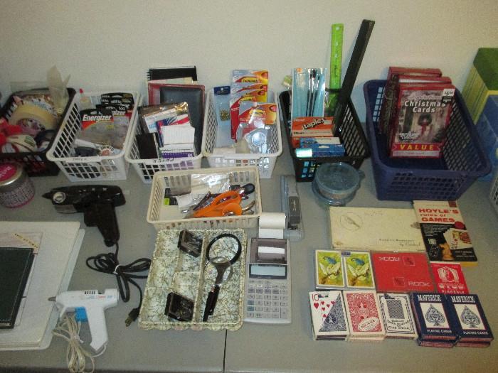 Playing Cards, Glue Guns, Address Books, Document Organizers, Command Hooks