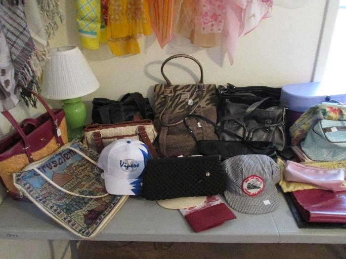 Nice Purses, The Sak, Anne Klein, Relic, Cute Vintage Black Purse, Vipers Cap And Box Car Willie Signed Conductor Cap