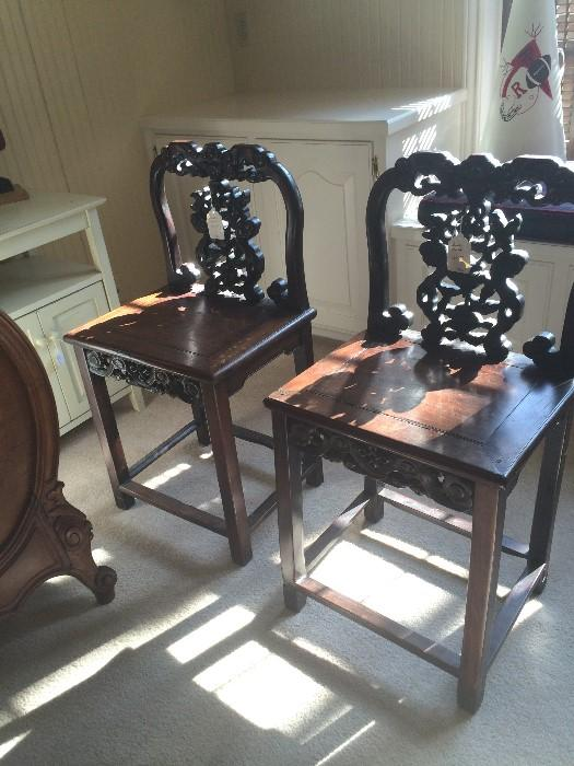Two antique stools