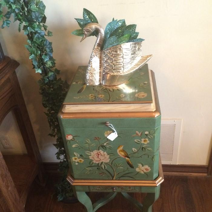 Hand painted file cabinet (top lifts)