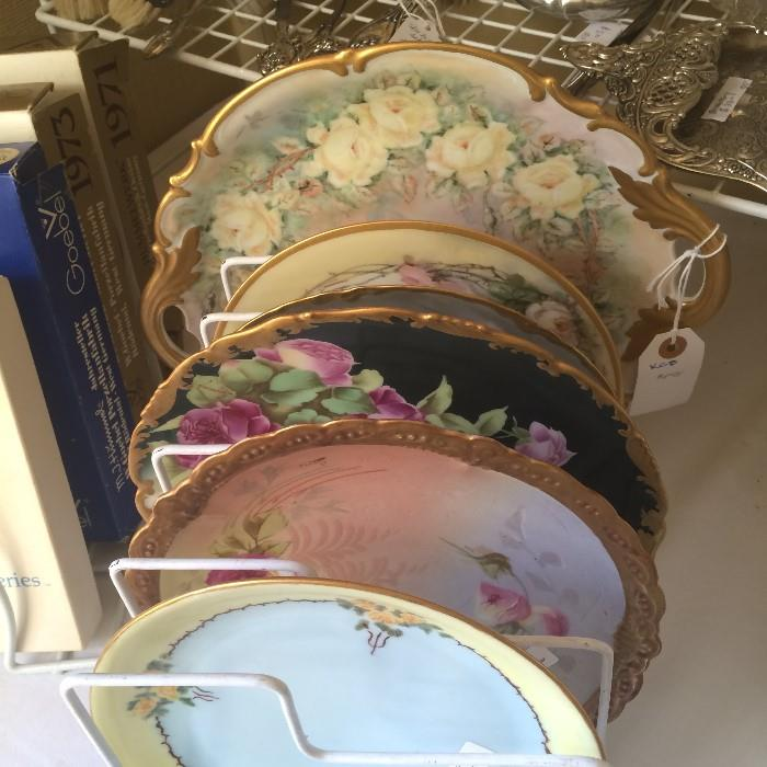 Assortment of hand-painted plates