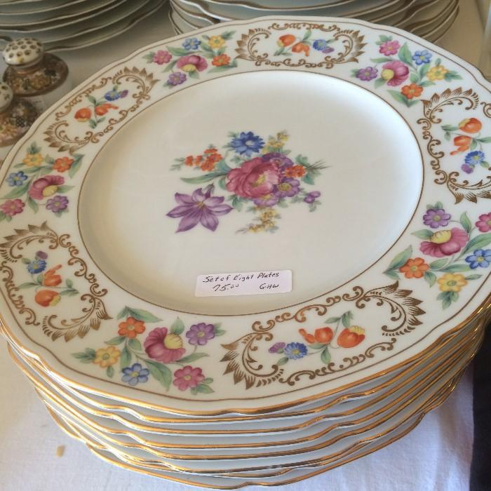 Lovely china plates