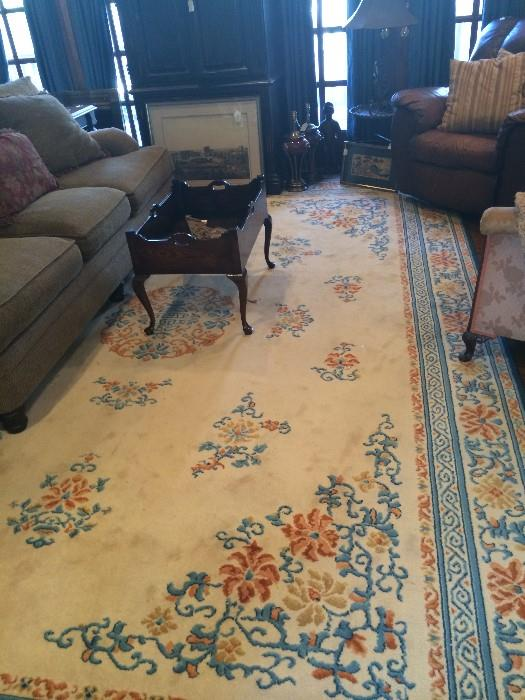 Extra large rug; several occasional chairs