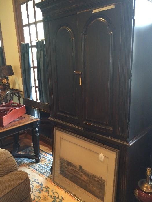 Large black armoire