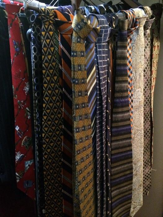 Huge selection of ties