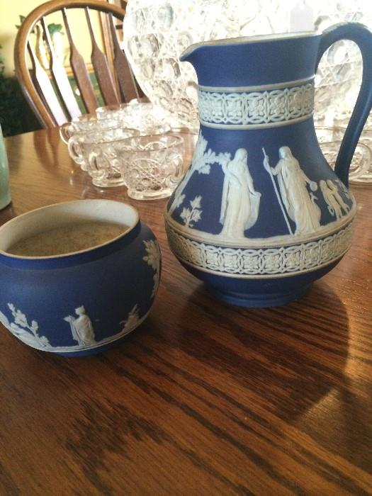 Wedgwood Jasperware bowl & pitcher