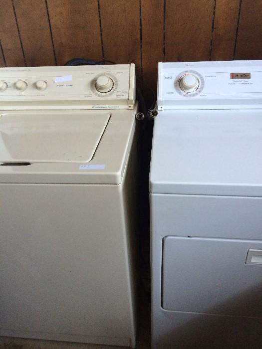 Whirlpool tan washer & white dryer