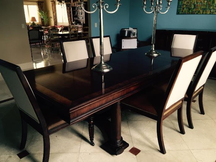 Ralph Lauren Gorgeous Dining Room Set w/6 Side Chairs & 2 Arm Chairs