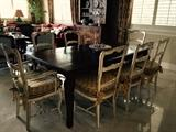 (8) Country French Chairs (2 Arm Chairs)